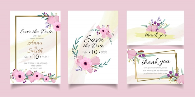 Invitación de boda plantilla