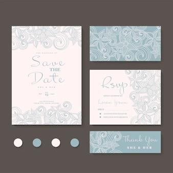Invitación de boda, reserva la fecha.