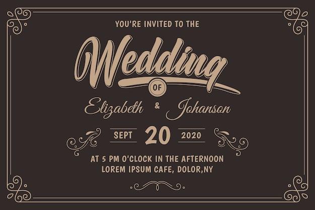 Invitación de boda retro