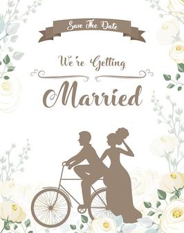 Invitación de boda simple y hermosa