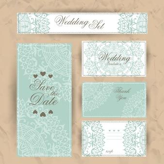 Invitación de boda, tarjeta de agradecimiento.