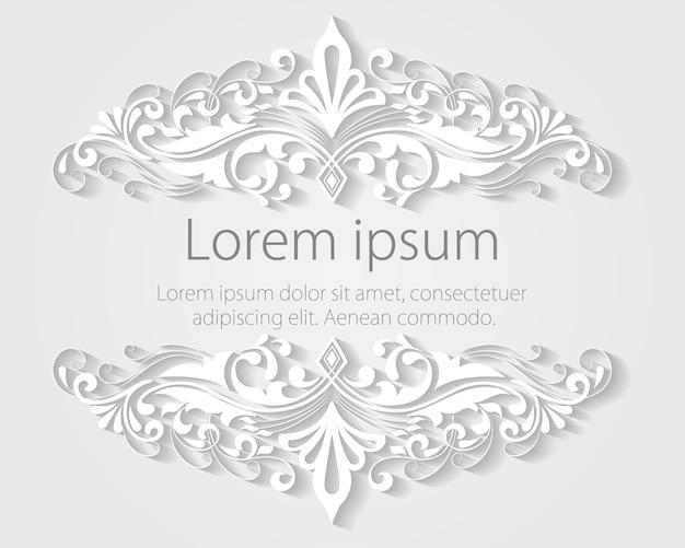 Invitación de boda y tarjeta de anuncio con ilustraciones de fondo floral