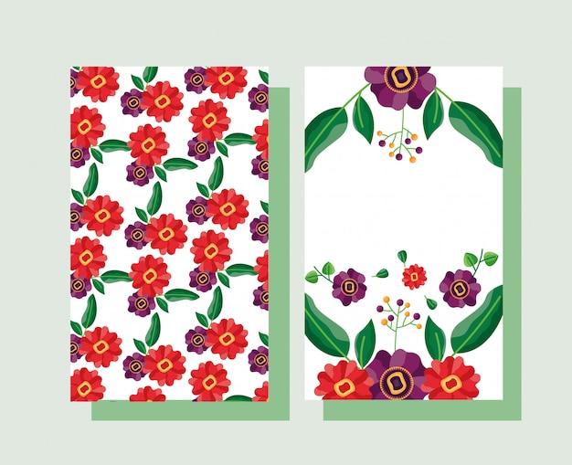 Invitación de boda con tema de flores