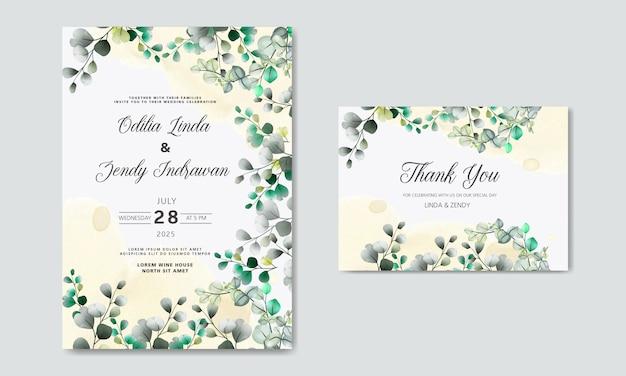 Invitación de boda con temas florales de lujo y belleza