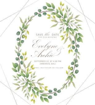 Invitación de la boda del verdor