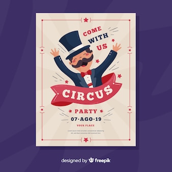 Invitación de circo vintage para fiesta