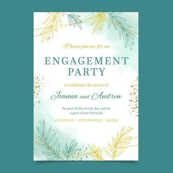 Invitación de compromiso elegante