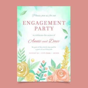 Invitación de compromiso floral