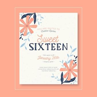 Invitación de cumpleaños dulce dieciséis