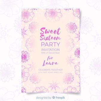 Invitación cumpleaños dulces dieciséis