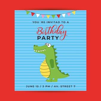 Invitación de cumpleaños para niño
