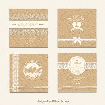 Invitación de boda de cartón