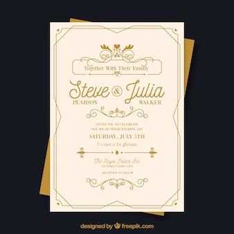 Invitación de boda en estilo vintage
