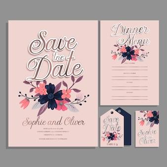 Invitación de boda geométrica abstracta