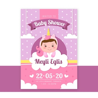 Invitación de ducha de niña