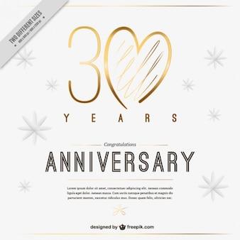 Invitación elegante de trigésimo aniversario