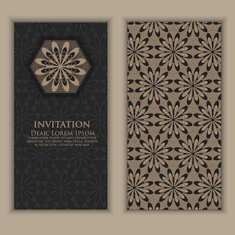 Invitación con elementos étnicos arabescos