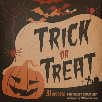 Invitación escalofriante de halloween