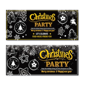 Invitación feliz fiesta de navidad poster.