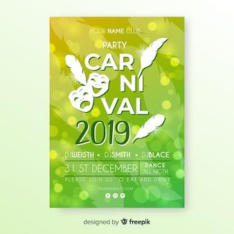 Invitación de fiesta de carnaval