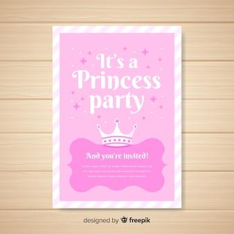 Invitación a fiesta de estilo princesa