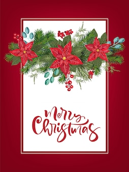 Invitación de fiesta de feliz navidad y tarjeta de invitación de fiesta de feliz año nuevo