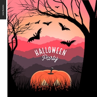 Invitación a fiesta de halloween