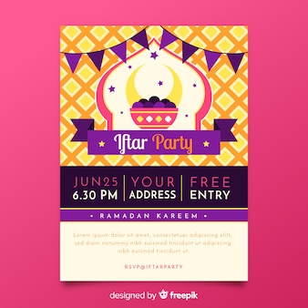 Invitación a fiesta iftar