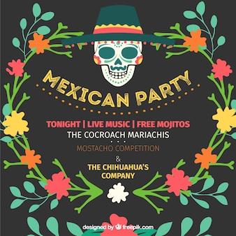 Invitación de fiesta mexicana vector gratuito
