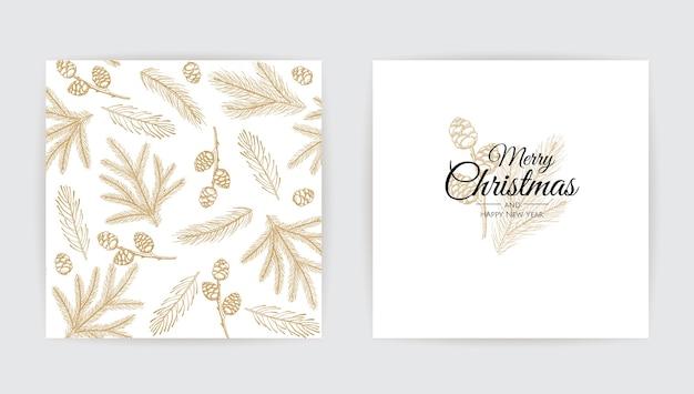 Invitación de fiesta de navidad feliz. feliz año nuevo decoración. vacaciones estacionales.