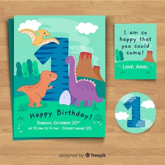 Invitación a fiesta de primer cumpleaños