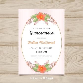 Invitación a fiesta de quinceañera