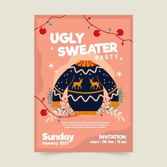 Invitación fiesta suéter feo