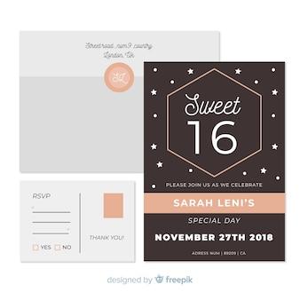 Invitación fiesta super dulces dieciséis
