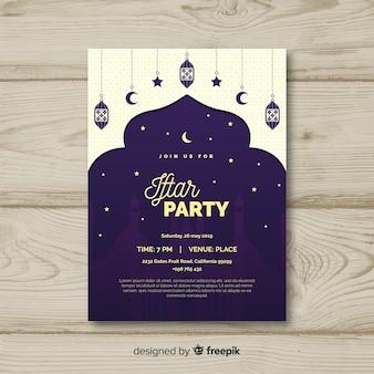 Invitación flat de iftar