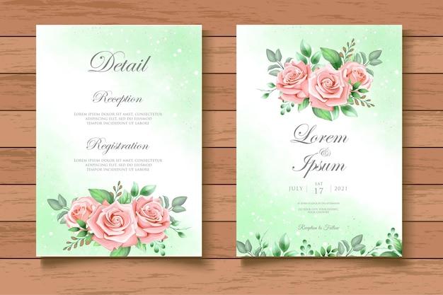 Invitación floral de la boda del chapoteo de la acuarela