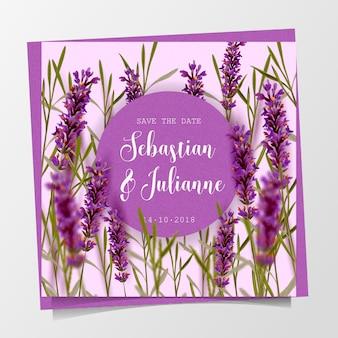 Invitación floral preciosa de la boda