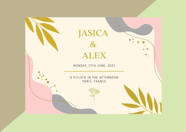 Invitación de fondo de invitación de plantillas decorativas de lujo