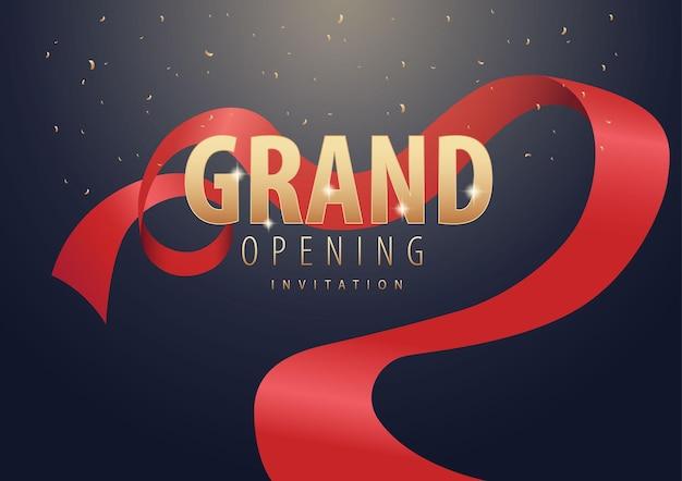 Invitación de gran inauguración realista