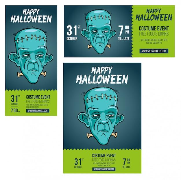 Invitación de halloween frankenstein