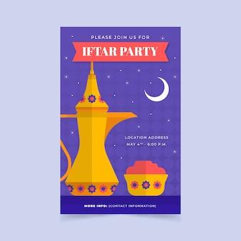 Invitación iftar estilo plano