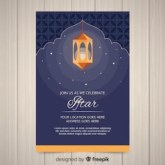 Invitación para iftar flat