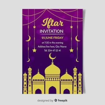 Invitación de iftar flat