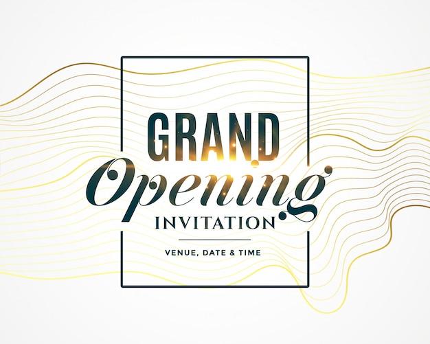 Invitación de inauguración