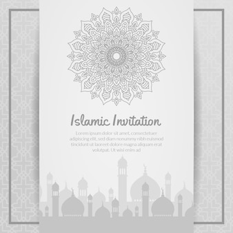 Invitación islámica, ramadhan kareem, eid al adha, eid al fitri, ornamental