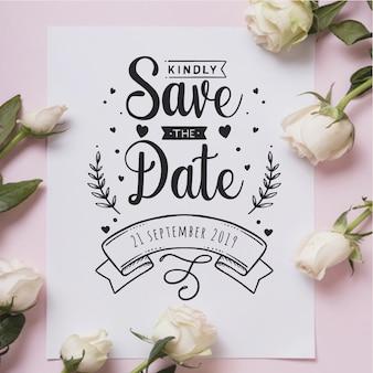 Invitación linda de la boda