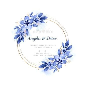 Invitación de marco floral de boda