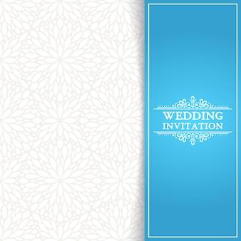 Invitación mínima azul de boda