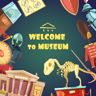 Invitación del museo de dibujos animados