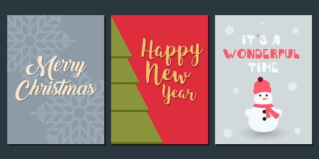 Invitación de navidad y plantilla de saludo.